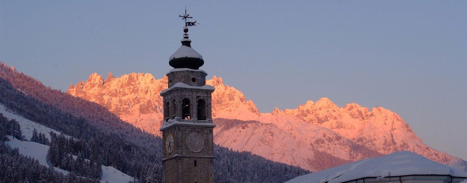 winterlicher Sonnenuntergang