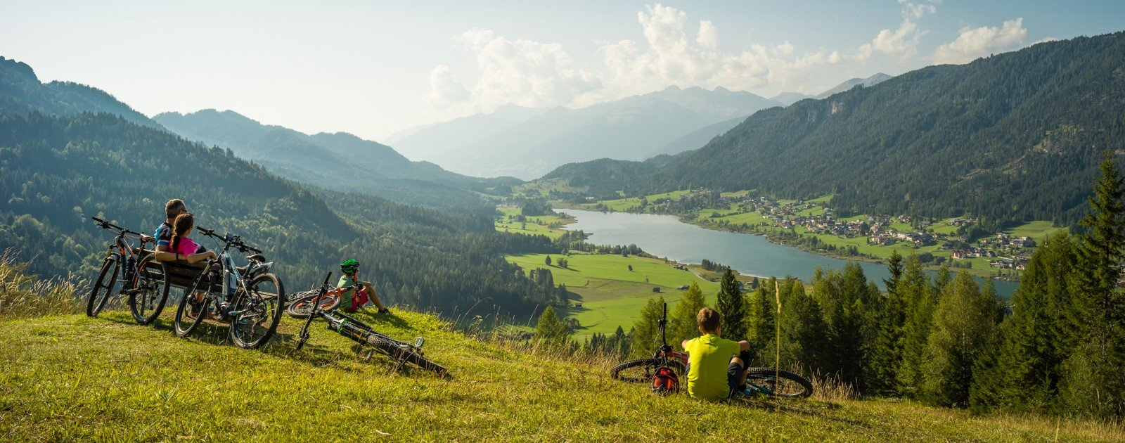 Familien Mountainbike Tour am Weissensee