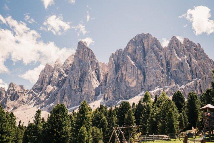 Villnöss Geisleralm Dolomiten Aussicht Sommer