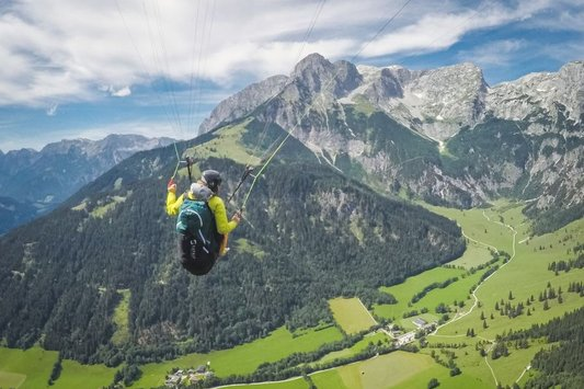 Tandem Paragliding in Werfenweng (c) Dietmar Denger