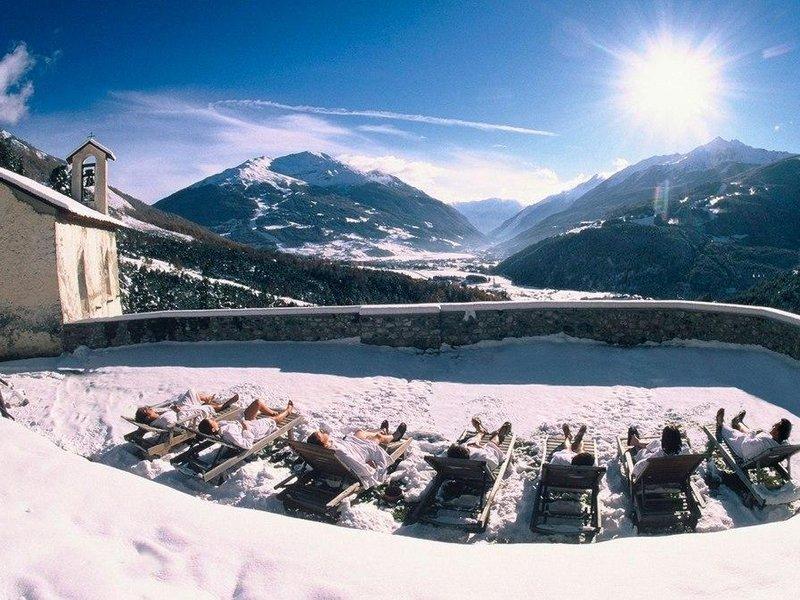 Sonnenbaden im Winter