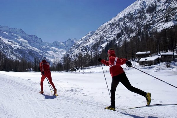 Langlaufen Cogne Aosta