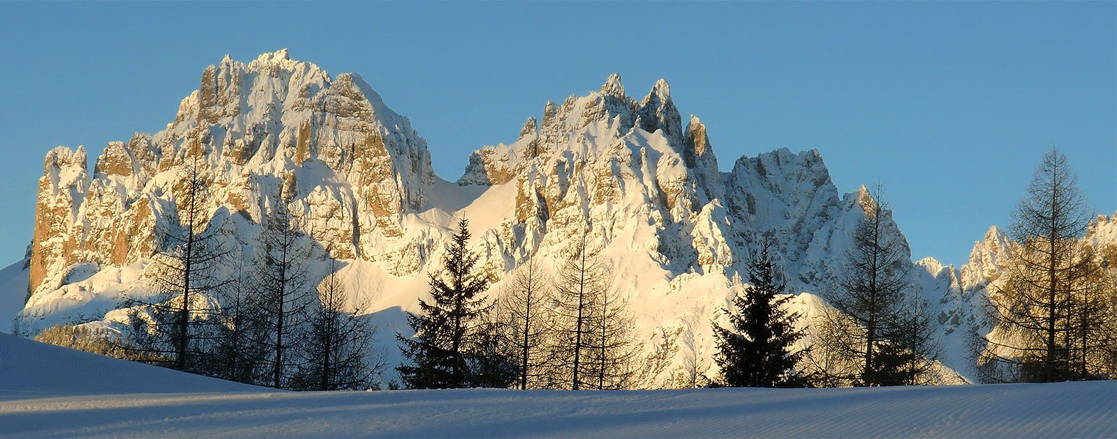 Dolomitenpanorama im Winter