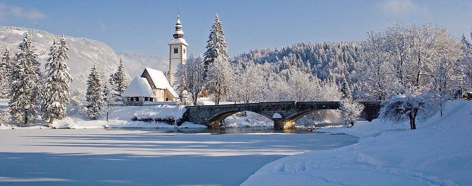 Wocheiner See im Winter