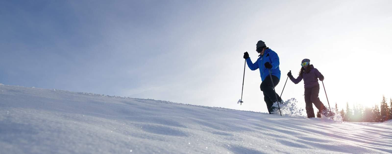 Schneeschuhlaufen Disentis