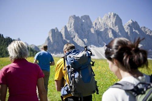 Wandergruppe in Villnöss