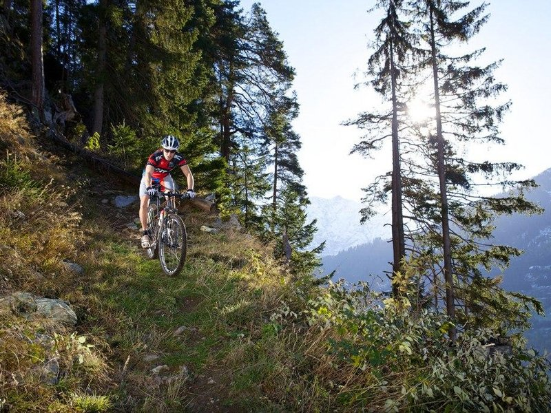 Mountainbiken in Disentis