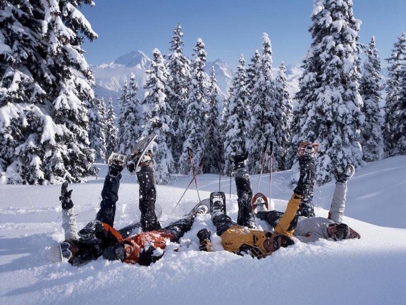 Schneeschuhwanderung und Fondue