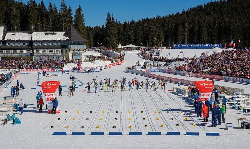 Biathlon auf der Hochebene von Pokljuka