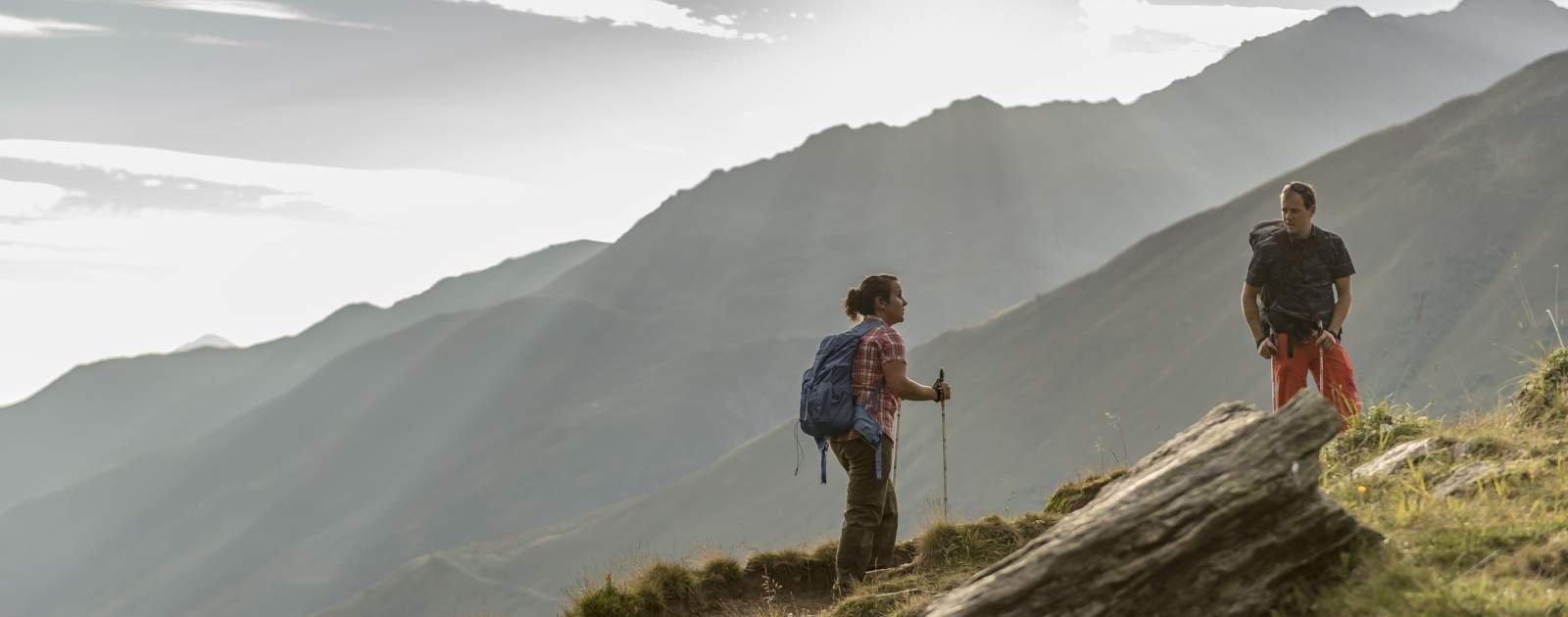 Wandern mit Aussicht in Disentis