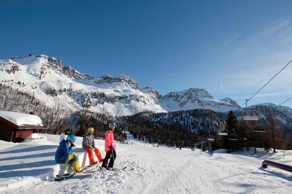 Skifahren Moena Fassatal
