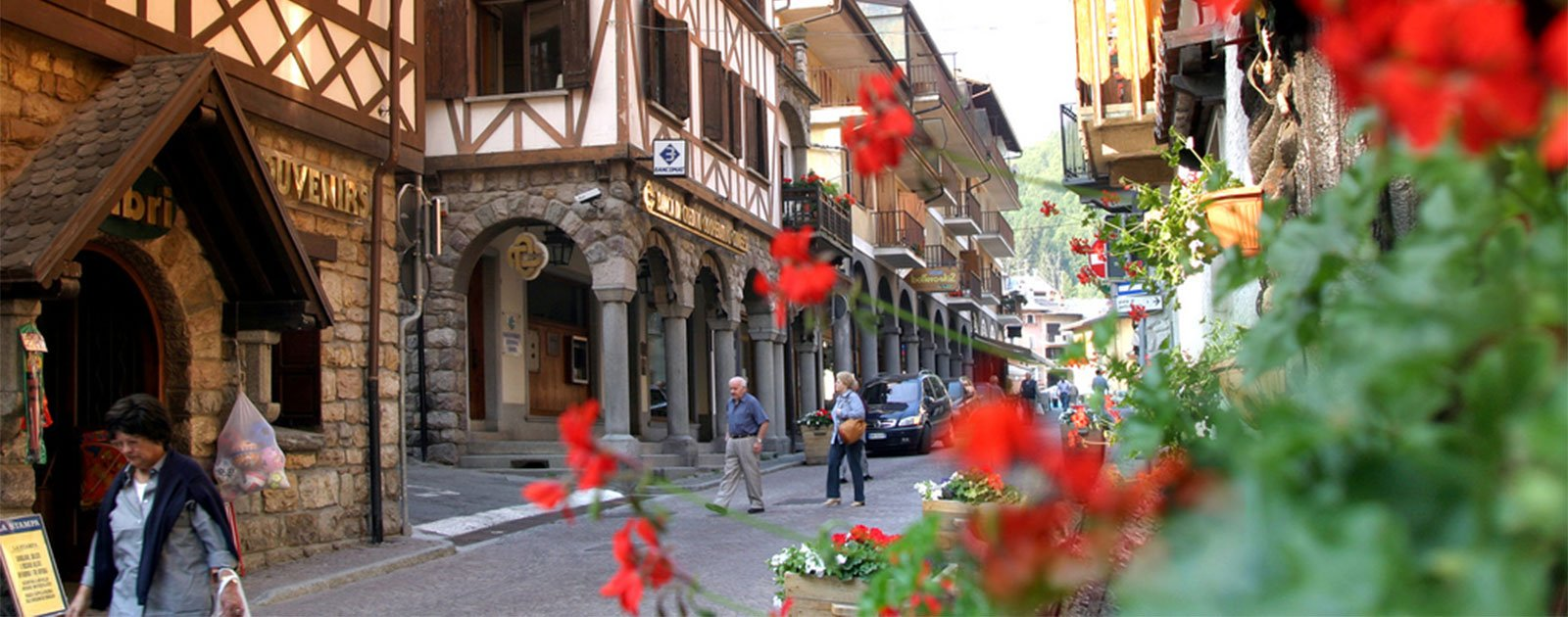 Zentrum von Limone Piemonte