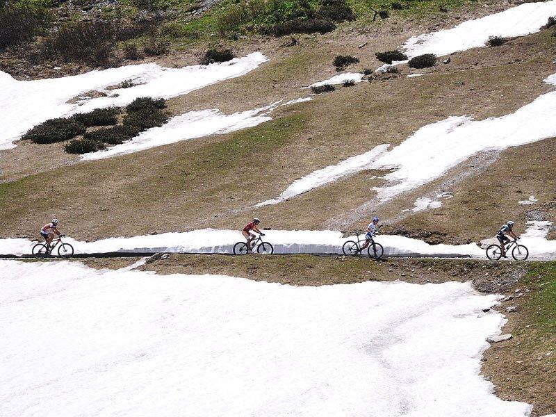 Mountainbiking im Schnee