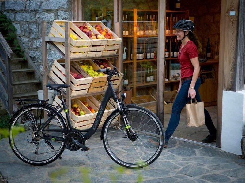 Einkaufstour mit dem E-Bike