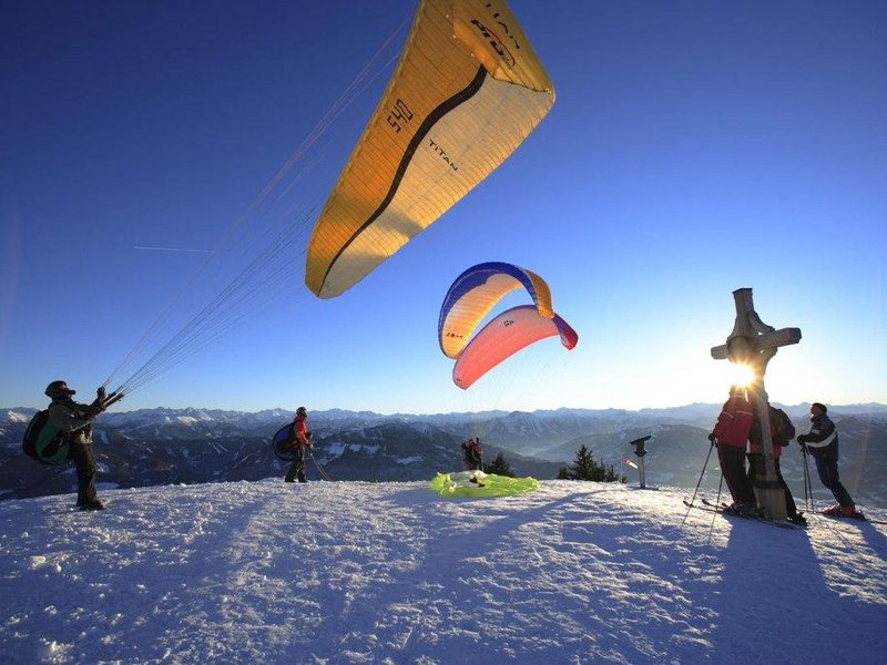 Paragliding im Winter