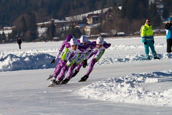 Eisschnelllauf am Weissensee