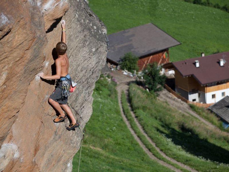 Naturfels Klettern im Passeiertal