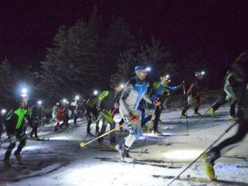 Skitour bei Nacht
