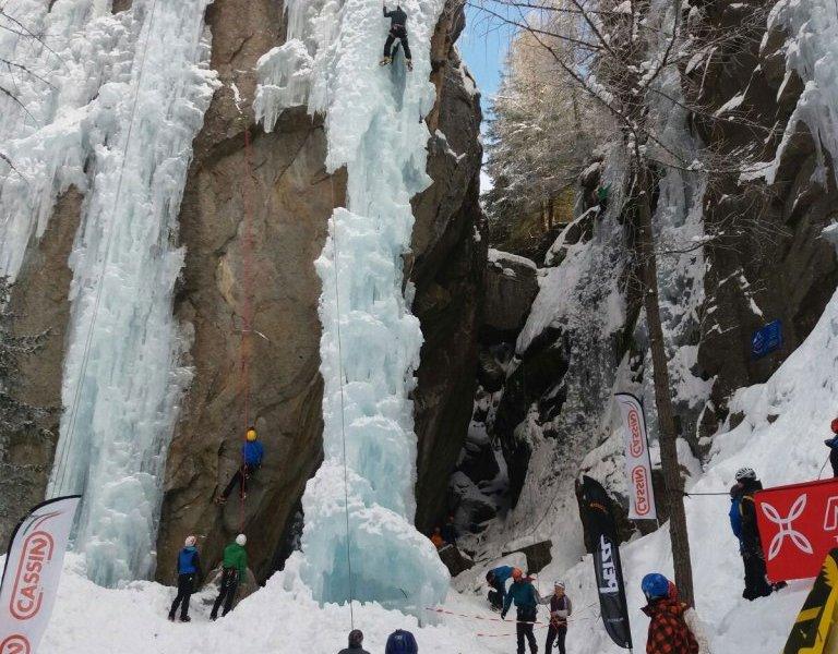 Ice Park Kletterer