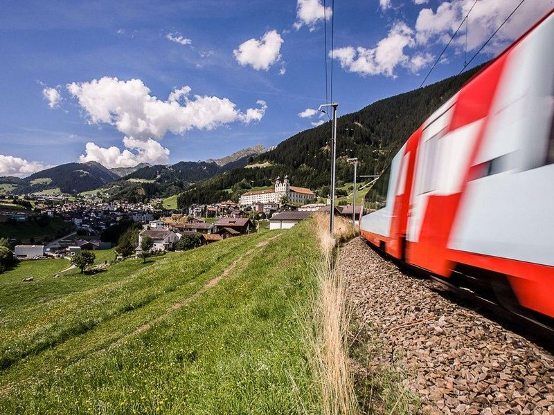 Glacier Express in Disentis