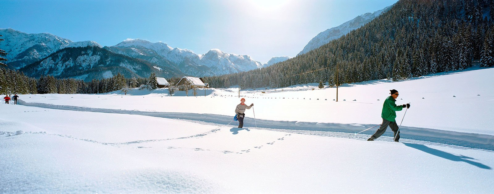 Langläufer im Stodertal