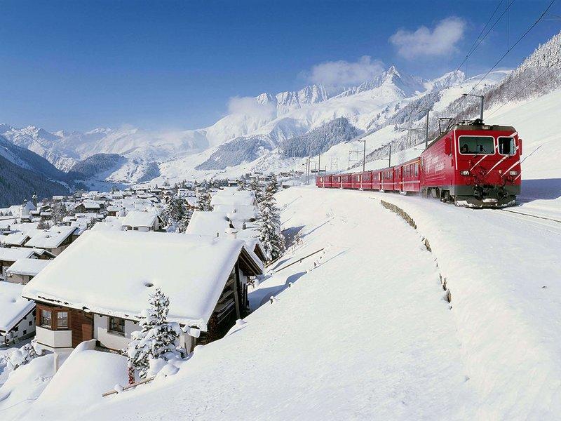 Rhaetische Bahn im Winter