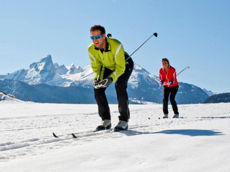 Langläufer in Berchtesgaden