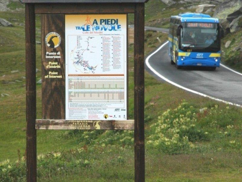 sanft-mobil in die Berge mit dem Bus
