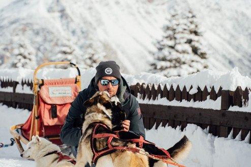 Schlittenhundeführer aus Valdientro