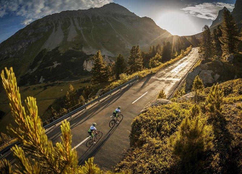 Radfahren in der BikeArena St. Gotthard