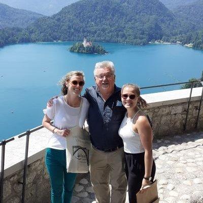 Auf der Burg von Bled mit Bürgermeister Janez Fajfar
