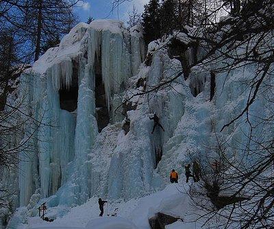 Eiskletterer im Eispark