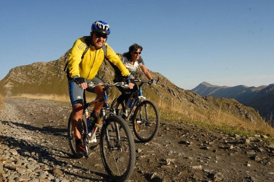 Mountainbiker auf Tour