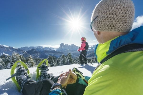 Schneeschuhwandern im Naturkpark Puez-Geisler (c) Dietmar Denger