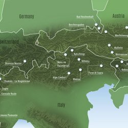 Landkarte Alpine Pearls