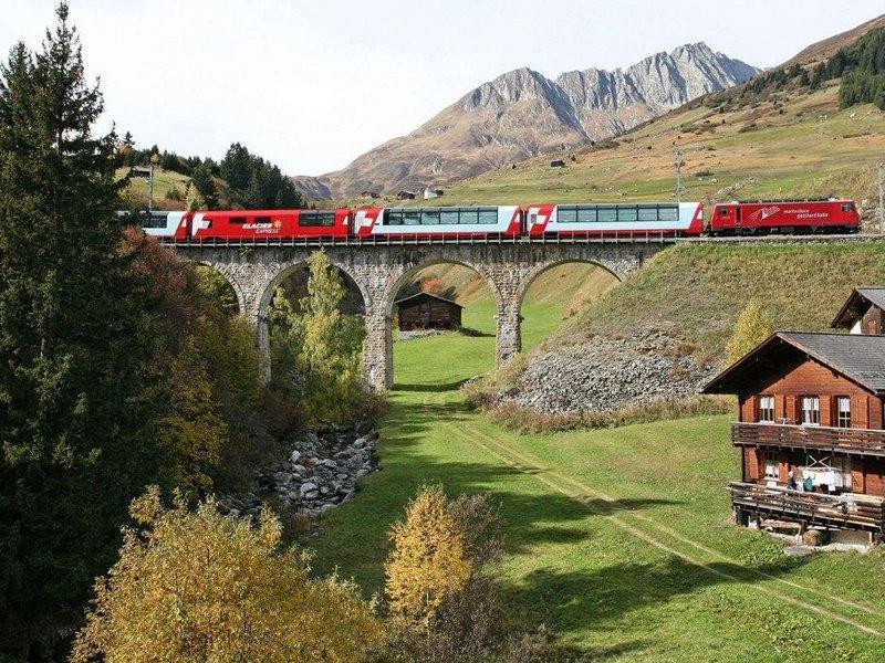 Anreise mit dem Glacier Express