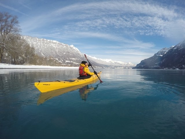 Kayak auf dem Brienzersee