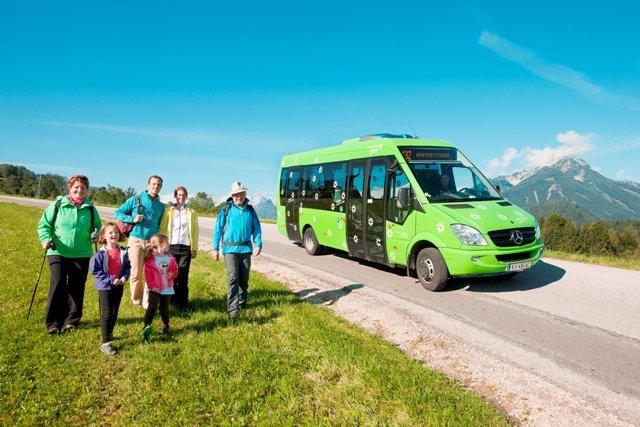 Il bus delle valli a Hinterstoder