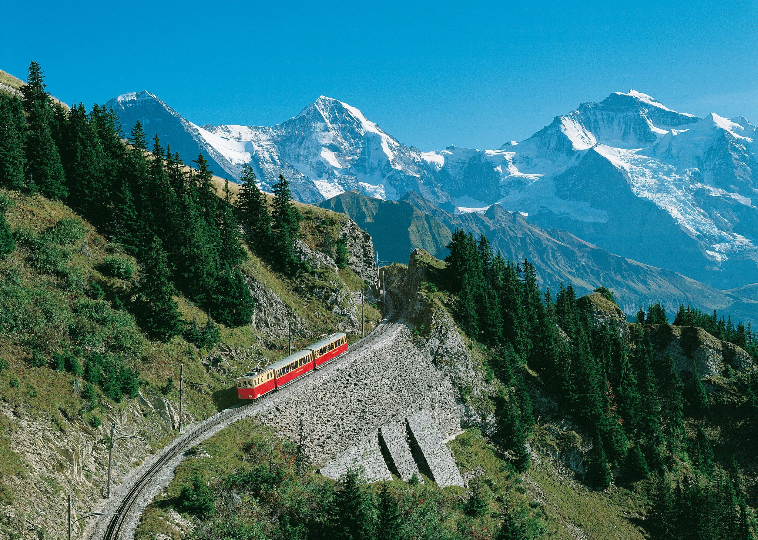 Un voyage en train à travers la Suisse